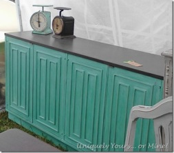 Destin Gulf Green painted buffet