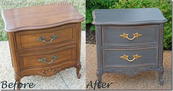 Refinishing painting nightstand
