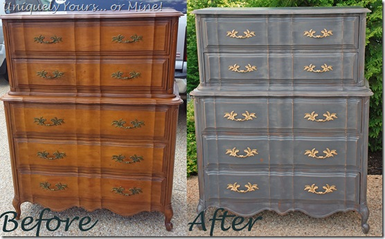 Refinishing painting chest of drawers