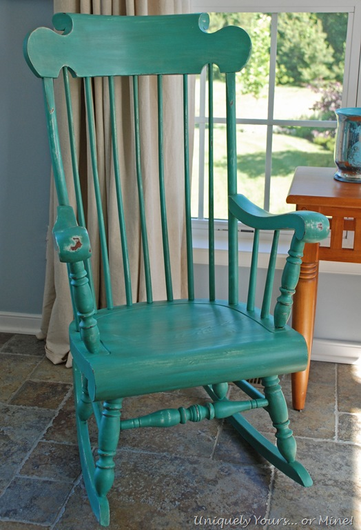 Delicieux Painted Rocking Chair With ASCP Provence And Florence