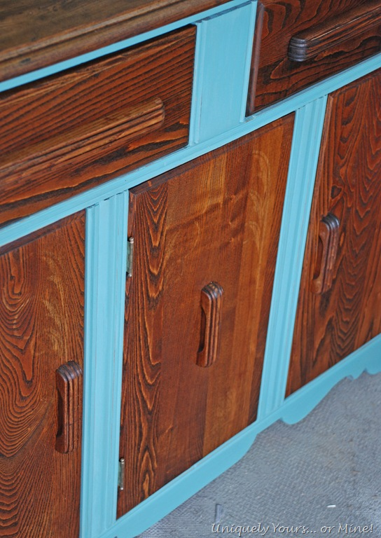 Custom painted art deco buffet