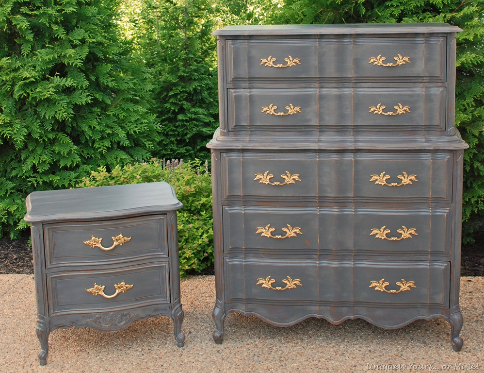gray furniture paintFinishing Chalk Paint a New Way