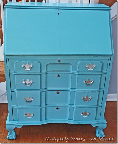 Provence blue painted secretary desk