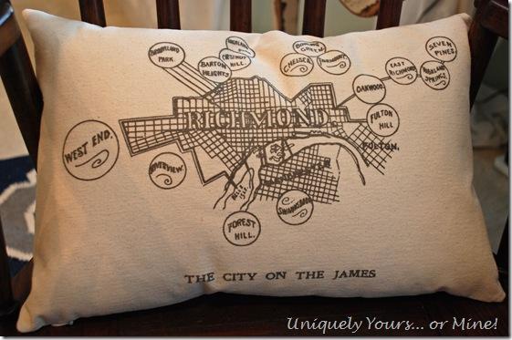 Cool pillows at Orange in Carytown