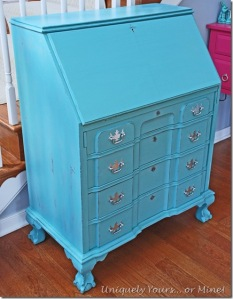 Provence blue painted sectretary