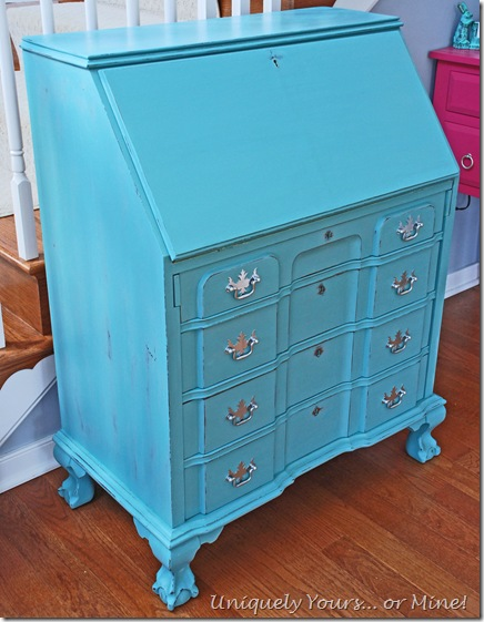 Provence blue painted desk