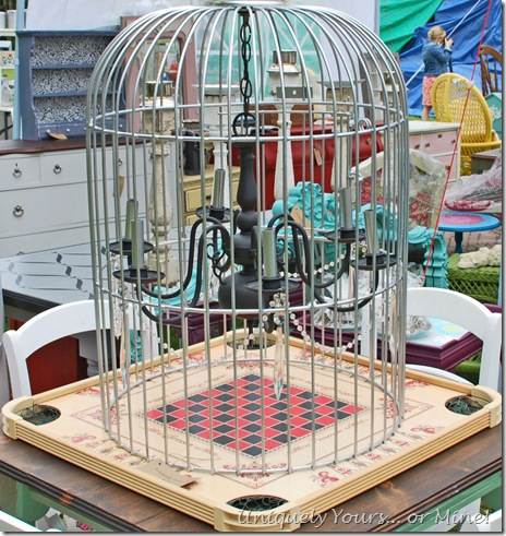Custom made birdcage chandelier