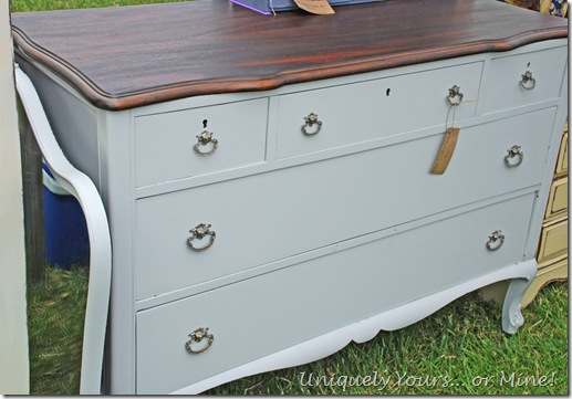 Stonington gray painted vintage chest of drawers dresser