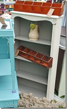 Painted bookcase in ASCP Old White and French Linen