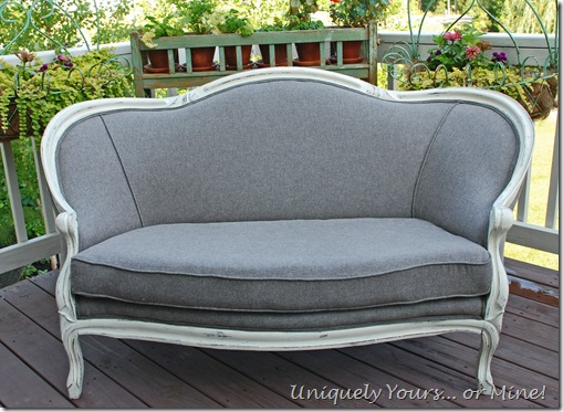 Reupholstered Vintage Settee