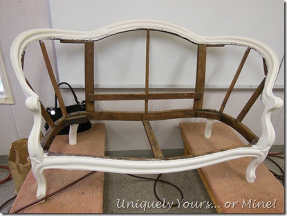 Painted vintage settee