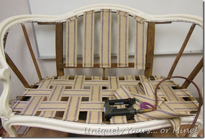 How to reupholster a settee or chair