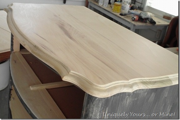 refinished striped french dresser top