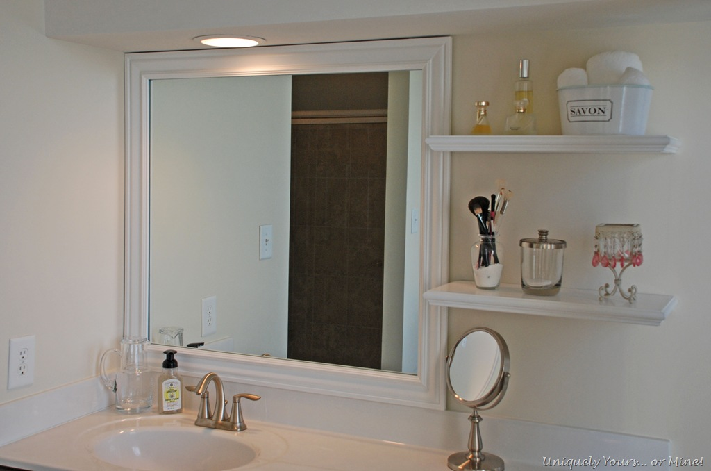 Framing Bathroom Mirrors The Hard Way
