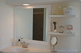 framing a bathroom mirror