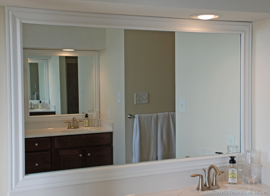 frame around mirror in bathroom framing bathroom mirrors the way uniquely yours or 23193