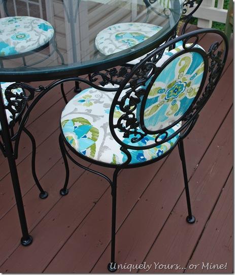 Vintage wrought ironpatio set updated refinished