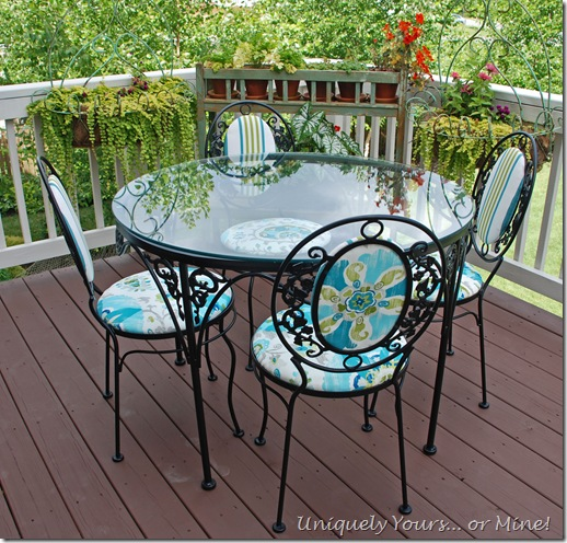 Vintage wrought ironpatio set updated refinished