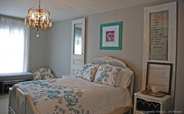 gray painted girls bedroom