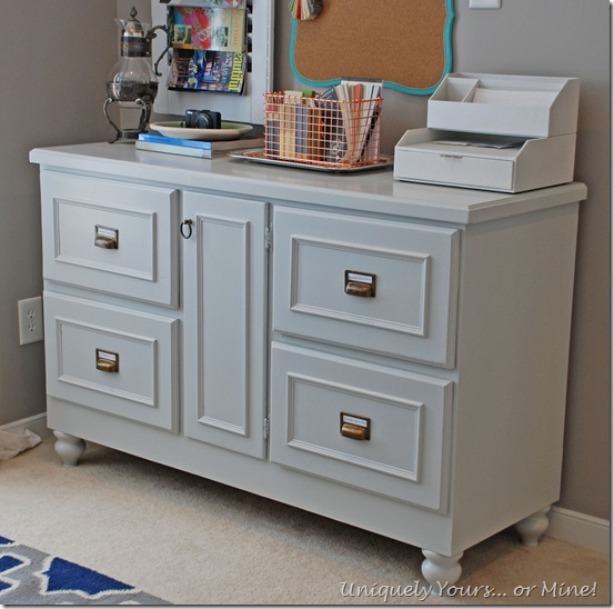 Stonington Gray painted credenza