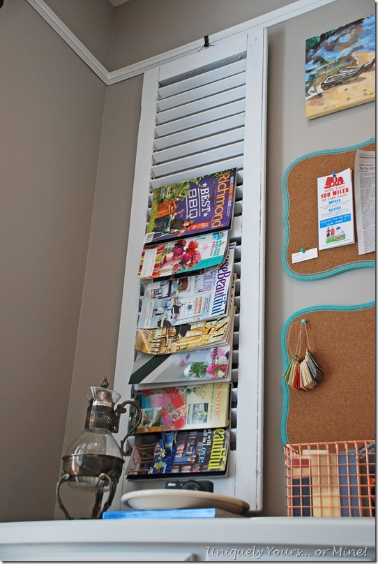 Office shutter magazine storage
