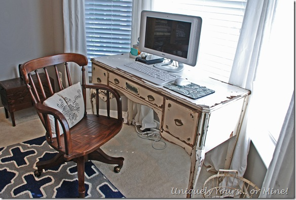 Vintage office desk and chair
