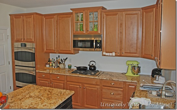 Before Kitchen Cabinet Painting