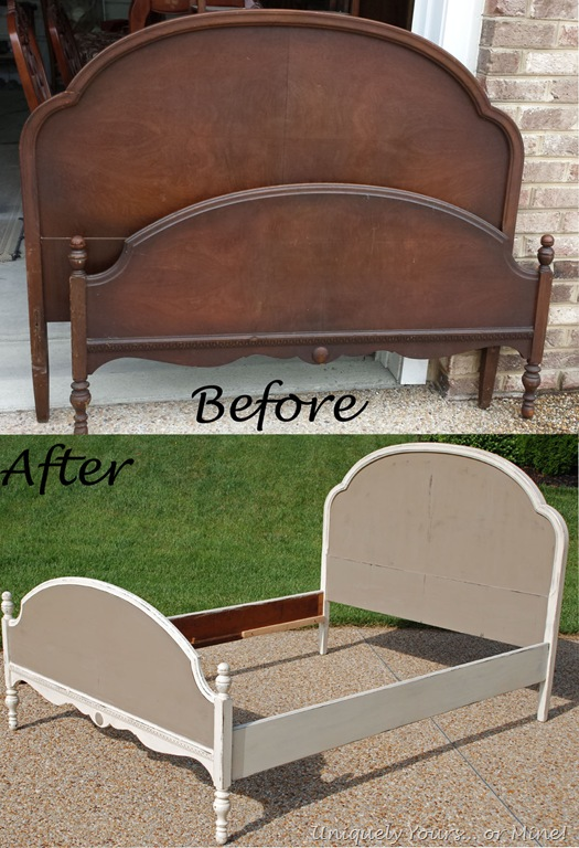 A beautiful update full size bed frame uniquely yours for Painting a headboard