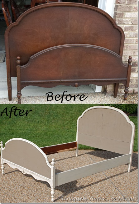 before and after coco and old white painted vintage bed