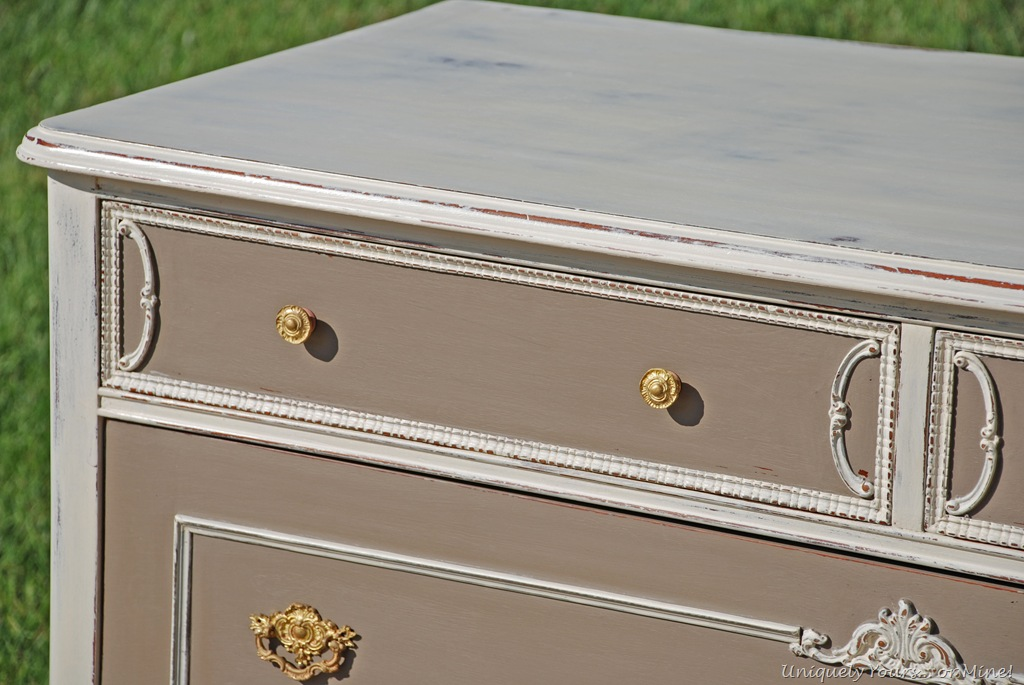 Annie Sloan Chalk Paint Coco French chest painted old white