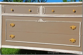 vintage dresser painted old white and coco ASCP