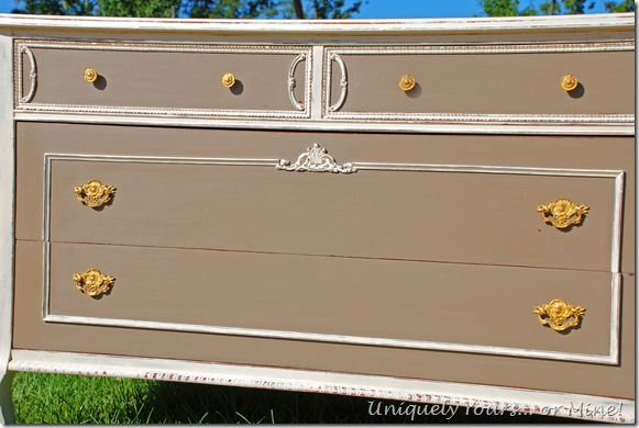 French chest painted Old White and CoCo ASCP