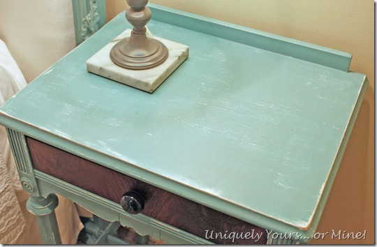 Refinished nightstand in Provence chalk paint
