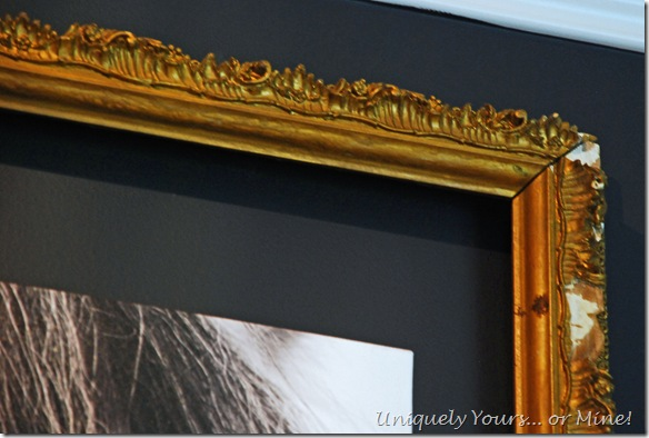 Using vintage gold leaf frame