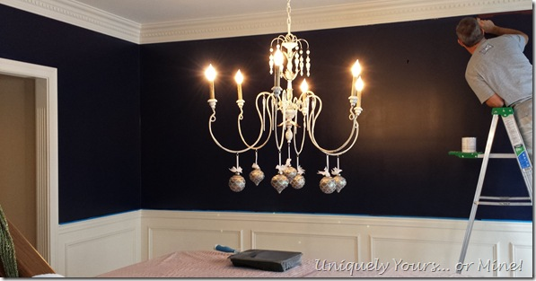 Navy Blue dining room sneak peak