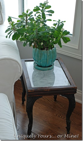 vintage stool or stand with marble insert