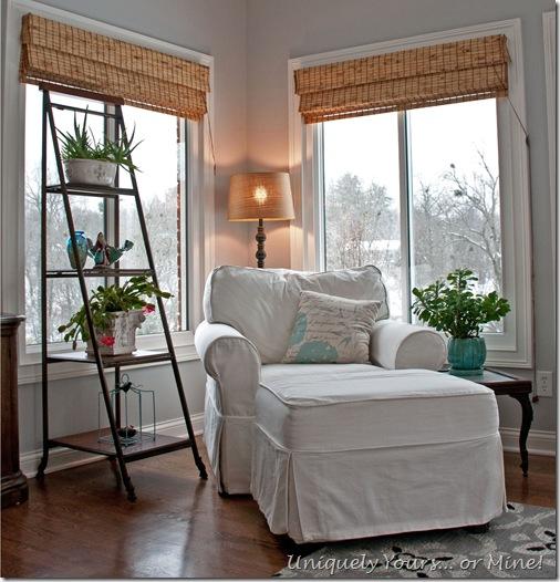 Stonington gray painted sunroom
