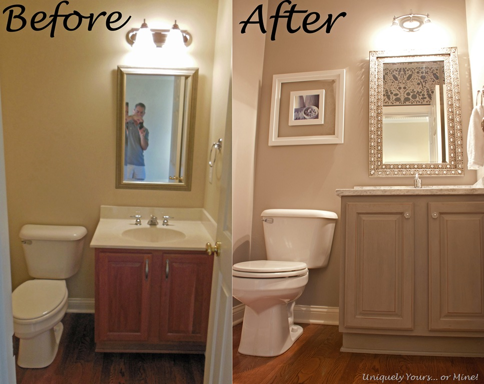 The Powder Room is Finished - Uniquely Yours… or Mine!