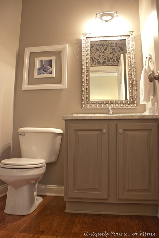 Gray Powder Room Uniquely Yours Or Mine
