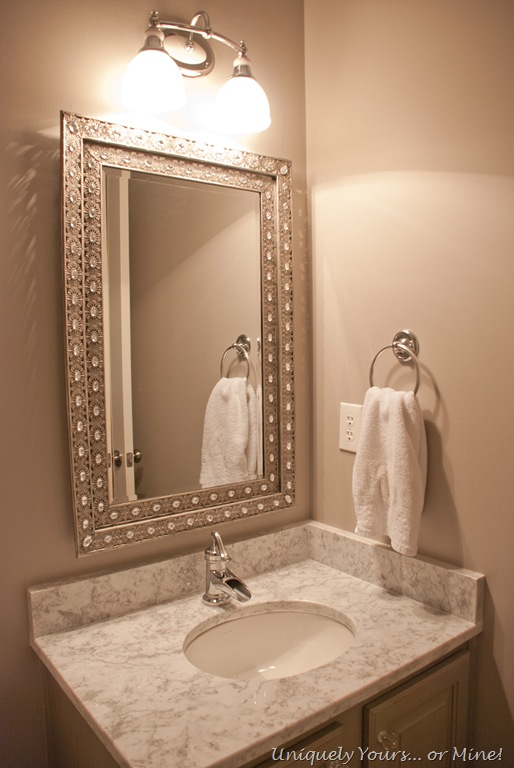 The Powder Room is Finished | Uniquely Yours... or Mine!
