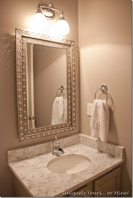 Gray & white marble vanity top