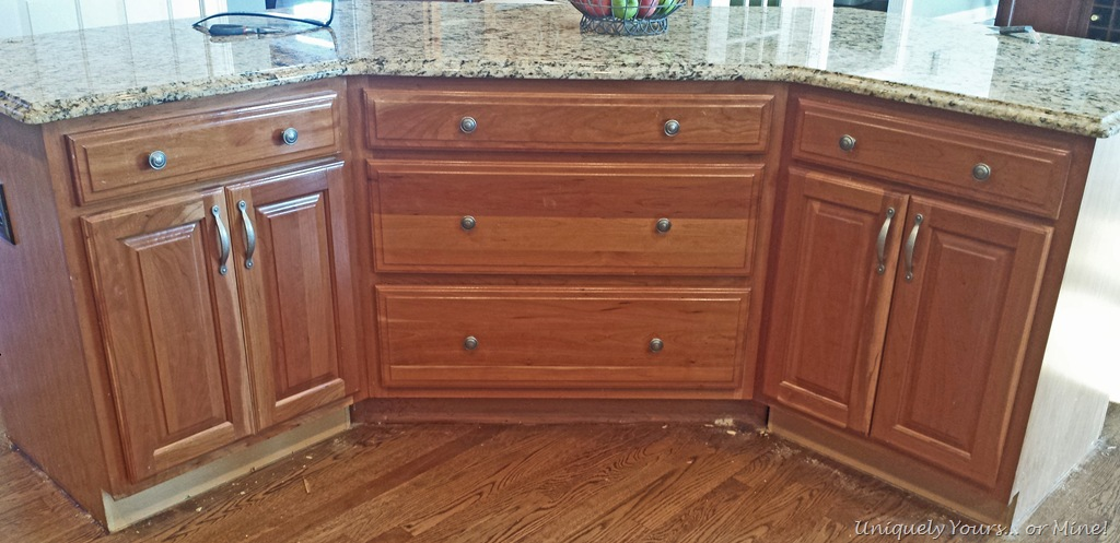 adding molding to kitchen island