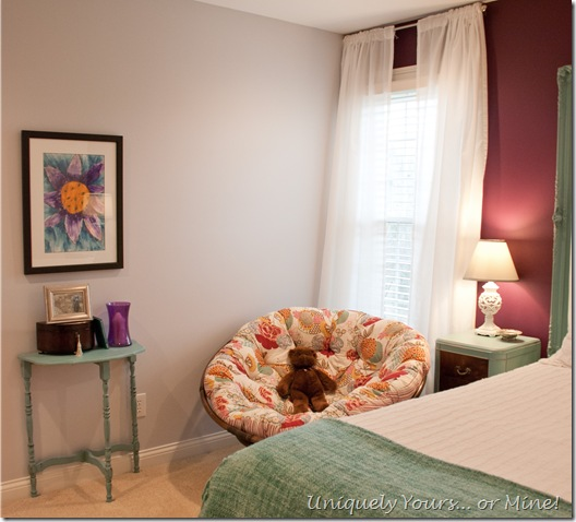 Purple and blue girls bedroom
