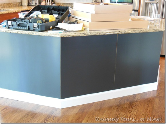 painted kitchen island Benjamin Moore Black Iron