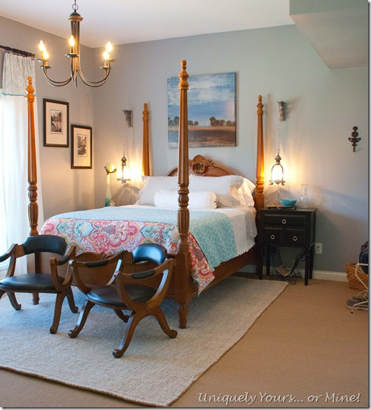 blue gray guest bedroom