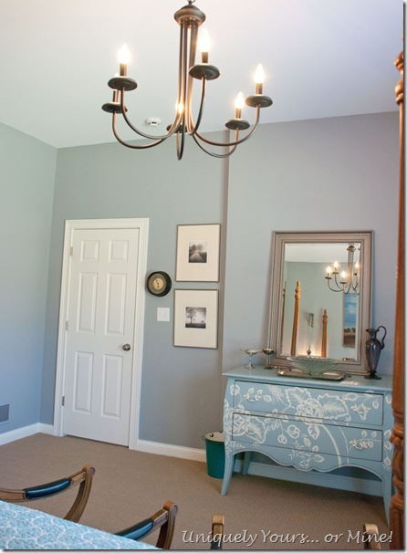 blue gray guest basement bedroom