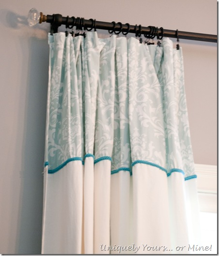custom curtains and curtain rod finials