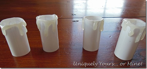 Faux wax candle covers DIY