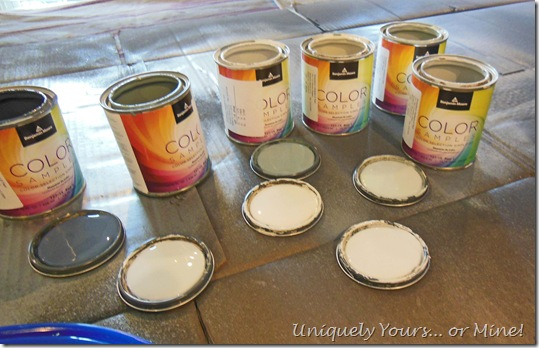 BM sample paint colors