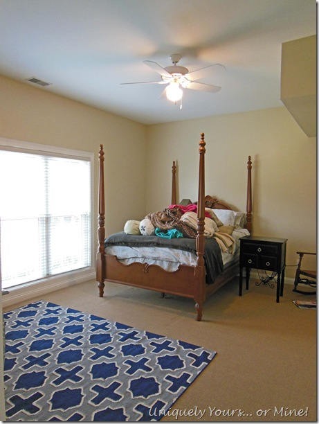 Guest basement bedroom before